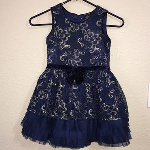 Beautiful navy blue and gold George dress